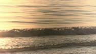 Italy - waves - Sunrise Stock Footage