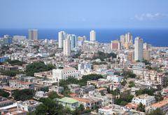 Aerial view of Vedado quarter in Havana, Cuba Stock Photos