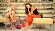 Stock Video Footage of Shopping in Shoe Store