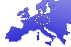 Stock Illustration of European union map