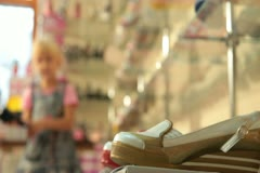 Children's Shoe Store Stock Footage