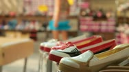 Stock Video Footage of Children's Shoe Store
