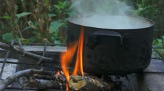 Cooking pot Stock Footage