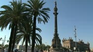 Stock Video Footage of Columbus Monument, Barcelona