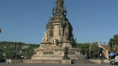 Columbus Monument, Barcelona Stock Footage