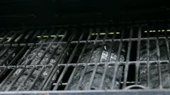 Empty Grill Stock Footage