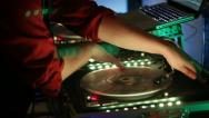 Close Up DJ Station Stock Footage