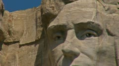 Mt. Rushmore - Abraham Lincoln Stock Footage