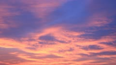 Red-blue sunset sky colors Stock Footage