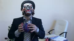 Office Work Employee mask and bomb Stock Footage