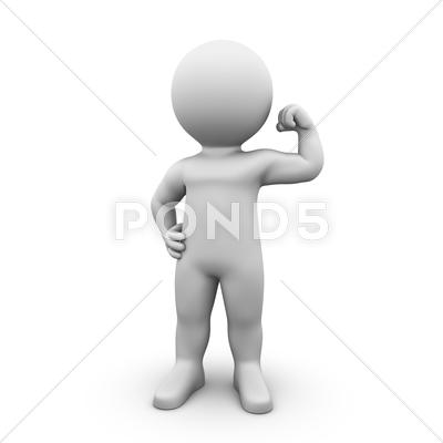 Stock photo of biceps posing