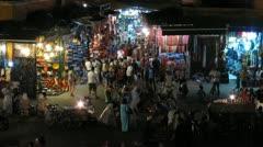 Jemaa el-Fnaa, Marrakech, Morocco. Stock Footage