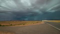 HD 30p wide Powerful Monsoon Lightning storm over Kayenta Arizona Stock Footage