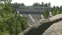 Mt. Rushmore - Amphitheater Stock Footage