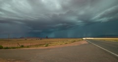4K 30p Powerful Monsoon Lightning storm over Kayenta Arizona Stock Footage