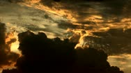 Stock Video Footage of Spectacular Swirling Sunset Cloudscape Time Lapse