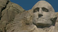 Mt. Rushmore - George Washington Stock Footage