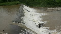 Weir on river Stock Footage