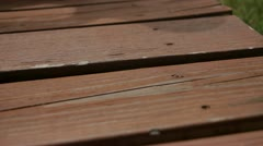 Old Wooden Deck Stock Footage