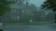 rainy and windy suburbs - stock footage
