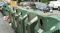 Recycling in Stockholm Stock Footage