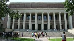 Harry Elkins Widener Memorial Library Harvard University Stock Footage
