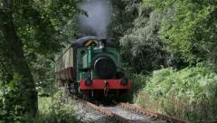 Steam train on the Royal Deeside Railway near Banchory, Scotland. Stock Footage