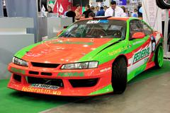 motor show - stock photo