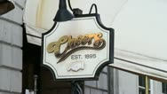 Cheers Sign Boston Stock Footage