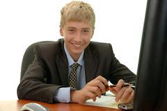 Teenager - businessman. Stock Photos
