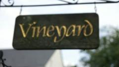Stock Video Footage of Vineyard Sign