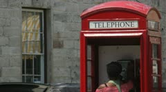 Telephone Booth Stock Footage