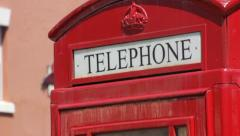 Telephone Booth Close Up Rack Focus Stock Footage