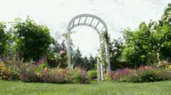 White Rose Arch Dolly - stock footage