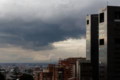 Bogota under Ominous Clouds - stock photo