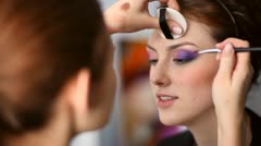 Make-up. - stock footage