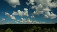 Forest and white clouds time lapse Stock Footage