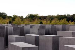 Betoni Stelae at Holocaust Memorial Berliinissä Kuvituskuvat