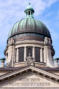 Facade and Dome of the Supreme Hanseatic Court of Hamburg, Germany - stock photo
