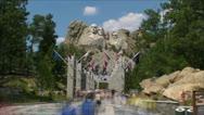 Mt Rushmore Rush Stock Footage