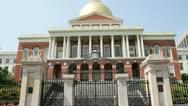 Massachusetts State House Stock Footage