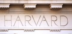 Letters HARVARD on a University Building Stock Photos