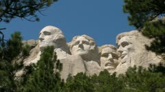 Mt. Rushmore from Below Stock Footage