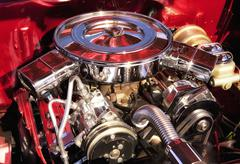 Stock Photo of Muscle Car Engine