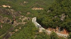 Roussanou monastery view (Meteora valley) _3 Stock Footage