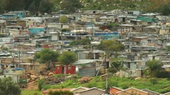 Imizamu Yethu Shanty town,informal settlement,South Africa Stock Footage