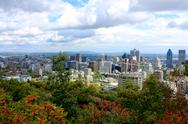 Stock Photo of View of Montreal from Mount Royal