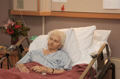 hospitalized senior - stock photo