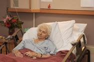 Stock Photo of hospitalized senior