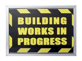 Stock Photo of building works in progress sign